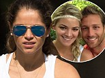 In his defense: Carla Rodriguez, pictured here, has spoken out defending her ex-boyfriend Juan Pablo as a 'good father' to their five-year-old daughter, Camila, while in Miami on Thursday