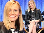 Keeping her legs crossed! Kristin Bell resorts to desperate measures after embarrassing wardrobe malfunction