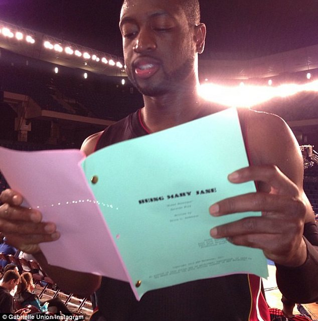 And there's more! On February 19th, Dwyane helped Gabrielle learn lines for her show Being Mary Jane