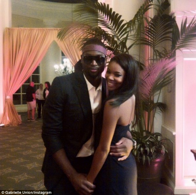 Still together: On Valentine's Day, nine months before Dwayne Wade's baby with another woman was born, he and Gabrielle Union appeared loved up in this picture she posted on Instagram