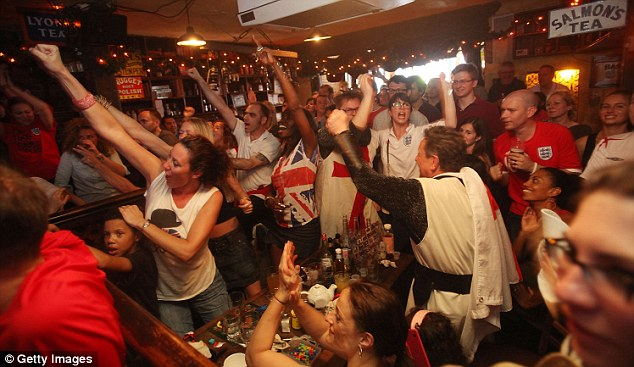 Come on England! Fans must wait to see if they will be able to watch their side take on Italy in Brazil