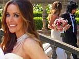 PICTURED: Motley Crue's Nikki Sixx, 55, sports wild hair and bandanna for wedding to model Courtney Bingham, 28, who looks stunning in strapless gown