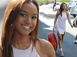 Looking good is the best revenge! Karrueche Tran sizzles in little white dress while ex-boyfriend Chris Brown stews in jail