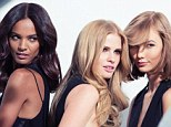 What does it mean? Karlie Kloss appears in this photo (far right) alongside Liya Kebede (left) and Lara Stone (center), taken on a shoot for L'Oreal Paris's new advertising campaign