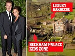 Sold! The Beckhams reportedly sold Beckingham Palace, pictured, for �11.5million - a tidy �9million profit
