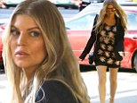 Boom Boom Pow! Fergie shows off her amazing sculpted legs in tiny shorts and stilettos ... to attend church services