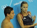 National pride: Daley and Couch poolside during the London 2012 Olympics