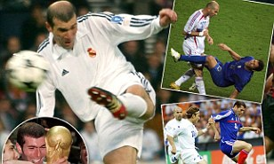 He was great - no ifs or butts: Zidane scoring in the 2002 Champions League final, lifting the World Cup, doing his pirouette turn and nutting Materazzi
