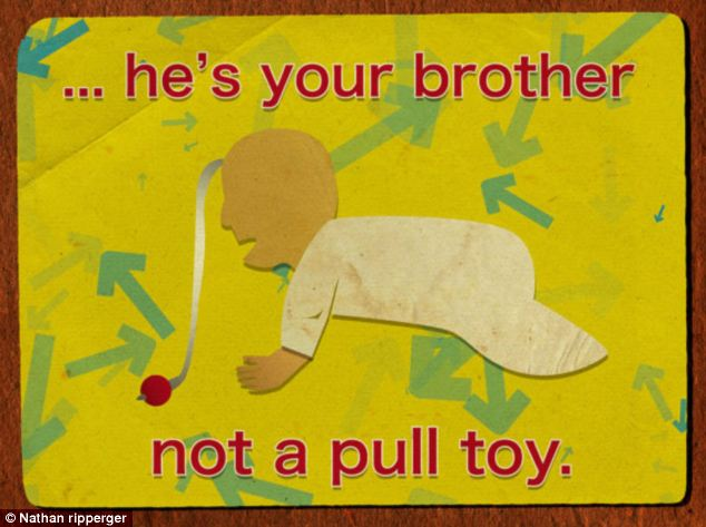 Does your child think the baby is a toy? Nathan Ripperger's did and he made a poster about it