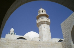 Mosque in Jordan. With this blue sky and the white walls, prayers have to reach heaven immediately.// Janell Peske
