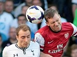 Rock: Per Mertesacker was brilliant at the heart of Arsenal's defence