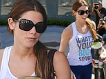 What's your body saying? Ashley Greene lets her impressively toned figure do the talking as she emerges from the gym after a gruelling Sunday session