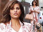 Eva Mendes walks George