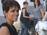 Her smile says it all! Halle Berry is radiant as she welcomes her son Maceo on set of new show Extant