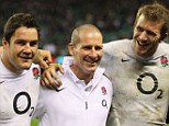 Strength in depth: Tom Croft (right) could give England coach Stuart Lancaster (middle) a decision to make