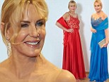 Twice as nice! Daryl Hannah ditches red embroidered gown at the last minute for same dress in blue to attend Vienna Filmball