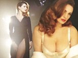 She'd get the part! Kelly Brook poses seductively in cleavage-baring white bodice  in racy advert for her new perfume Audition