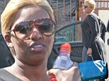 Almost show time! Reality star NeNe Leakes gets ready to sweat in the final rehearsal before appearing in season 18 of Dancing with the Stars