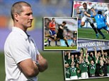 Work to do: Stuart Lancaster and England have taken huge strides in this Six Nations, but they still only managed a second placed finish