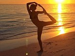 Namaste: Gisele Bundchen shared a photo of her in dancer's pose