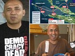An image has emerged of the pilot of the missing Malaysia Airlines jet wearing a T-shirt with a 'Democracy is Dead' slogan as it has been revealed he could have hijacked the plane in an anti-government protest