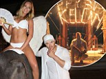 Naughty! Kellan Lutz celebrated his 29th birthday with a bikini-clad angel and elephant at Nikki Beach in Phucket, Thailand on Saturday