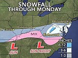 The weather is expected to impact the Monday morning commute
