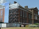 Refrubishment: Kensington Palace, pictured last summer, is being renovated. Apartment 1A, a 20-room complex, is being made ready for new arrivals