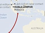It could be anywhere: Malaysian authorities have called on Australia to broaden its search in the Indian Ocean