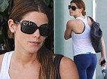 Fit and fabulous! Ashley Greene displayed her firm derriere as she emerged from a gym in West Hollywood, California on Sunday