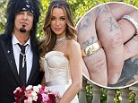 TWO dresses! Motley Crue's Nikki Sixx, 55, marries Courtney Bingham, 28, in decadent ceremony that involves diamond bling and French roses