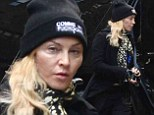 Madonna is suspiciously puffy as she goes make-up free to the Kabbalah Centre for Purim