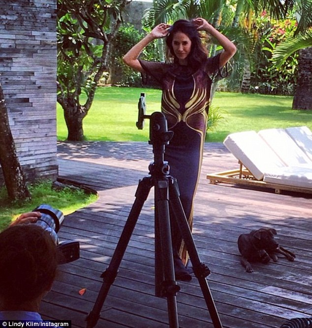 A natural: Lindy shared a moment from the InStyle shoot on her Instagram account