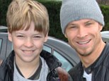 Brian Littrell and his son Baylee