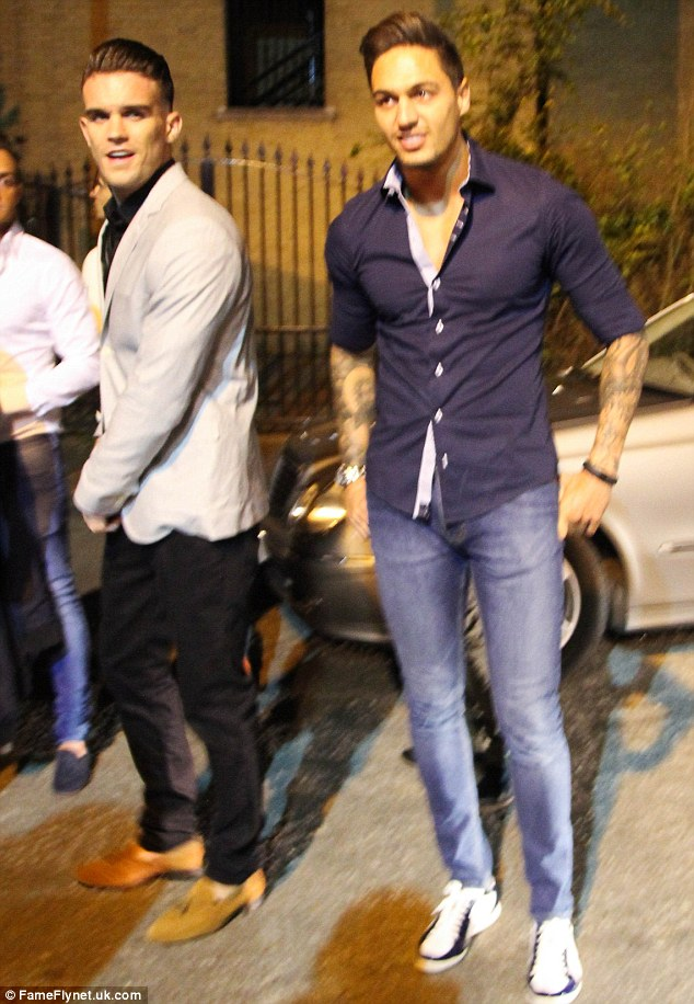Here comes trouble! Rather awkwardly, Lucy's former fiance Mario Falcone spent the evening at Club 195 too, accompanied by fellow reality star Geordie Shore's Gary Beadle