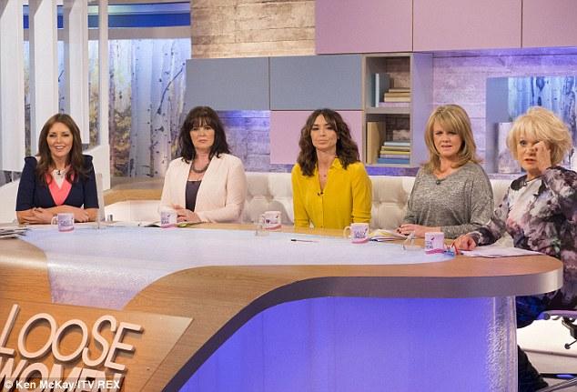 Loose: Carol Vorderman, Coleen Nolan, Christine Bleakley, Sally Lindsay and Sherrie Hewson on the show