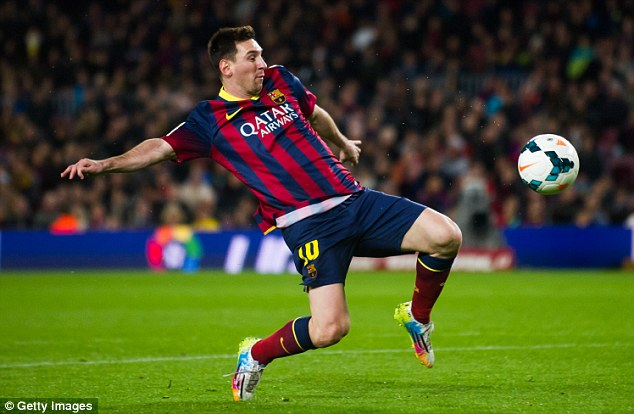 Stretch too far: Messi has so far been unable to reproduce his stunning Barcelona form on the international stage
