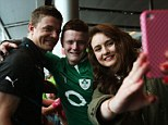 Idol: Every fan wanted to share a snap with their Irish hero O'Driscoll