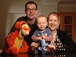Starting young: Shaun and Sharon McCran with son Connor