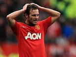 Gutted: Juan Mata wrote on his personal blog that he was 'mad' after Man United's defeat against Liverpool