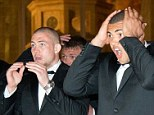 All over: England players react as they watch Ireland clinch the Six Nations title