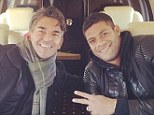 Where you off to? Hulk said he was going to 'work' in London with his manager and friend