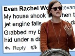 'Grabbed my baby and hid under doorway!' Evan Rachel Wood Stars and fellow celebrities react to 4.4 magnitude LA earthquake