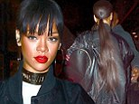 The mane attraction! Rihanna shows off very long new ponytail as she parties in New York wearing crop top and ripped jeans