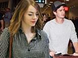 EXCLUSIVE: Emma Stone arrives in Sydney with her boyfriend Andrew Garfield