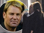 A shocked Shane Warne has reacted on Twitter to images of Liz Hurley kissing David Yarrow