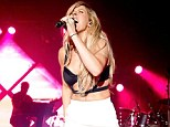 Goodness gracious: Ellie Goulding continued her love of racy stage outfits as she perform in Washington City on Sunday evening