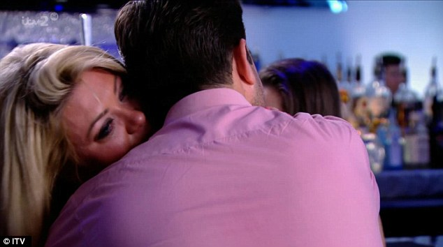 Hug it out: Wiping away the tears, Gemma conceded that the couple weren't meant to be, in spite of their obvious chemistry