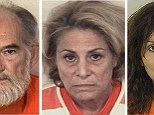 William Styler (L), Nancy Styler (C) and Kathy Carpenter are seen in this picture combination of undated booking photos released by the Pitkin County Sheriff's Department in Aspen, Colorado.  Styler, his wife Nancy, and Carpenter have been arrested in connection with the murder of Nancy Pfister, an Aspen, Colorado, socialite whose body was found inside her home in the chic ski resort town last month, police said.   REUTERS/Pitkin County Sheriff's Department/Handout via Reuters (UNITED STATES - Tags: CRIME LAW) ATTENTION EDITORS - FOR EDITORIAL USE ONLY. NOT FOR SALE FOR MARKETING OR ADVERTISING CAMPAIGNS. THIS PICTURE WAS PROCESSED BY REUTERS TO ENHANCE QUALITY. AN UNPROCESSED VERSION WILL BE PROVIDED SEPARATELY