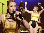 Stellar show: Iggy Azaela put an edgy spin on the Nineties classic Clueless as she performed her new single Fancy on Late Night with Seth Myers on Monday night